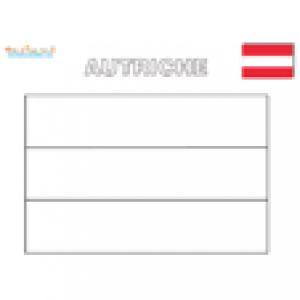 Drapeau Autriche, coloriage drapeau Autriche
