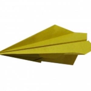 Pliage et origami d'un avion