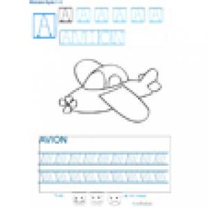 Imprimer la fiche graphisme sur A de avion