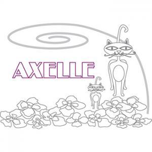 coloriage prénom Axelle