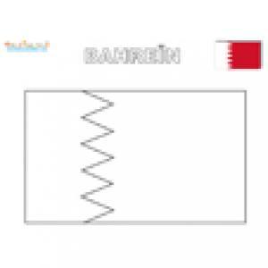 Coloriage drapeau de Bahreïn