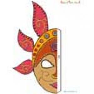 Masque de Bali : Partie droite du masque