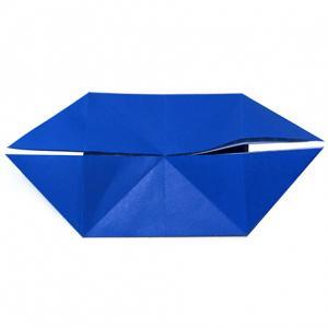 Pliage de base origami en double bateau