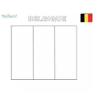 Drapeau de la Belgique à colorier
