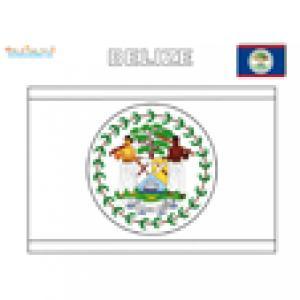 Drapeau de Belize à colorier