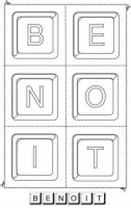 jouer avec les lettres du prénom Benoit