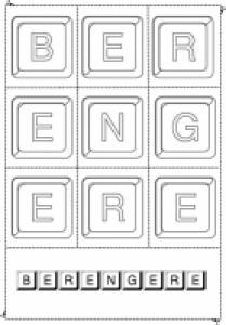 Jouer avec les lettres du prénom Bérangère