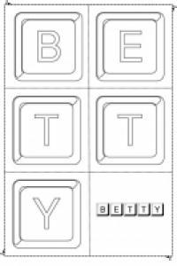 Jouer avec les lettres du prénom Betty