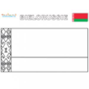 Drapeau Bielorussie, coloriage drapeau Biélorussie