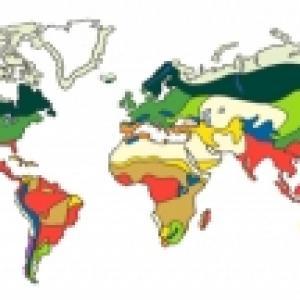 carte des grands habitats - biomes