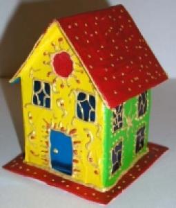 décoration Noël : Petites maisons peintes