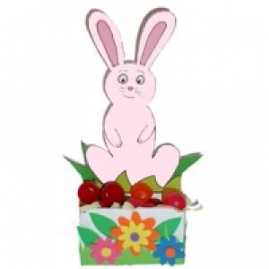Petite corbeille de table lapin à colorier