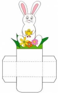 """petite corbeille de table """"lapin blanc dos"""""""