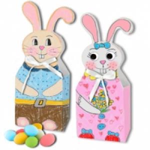Boites lapins de Pâques à colorier