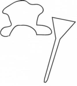 modèle du chapeau du bonhomme de neige en polystyrène