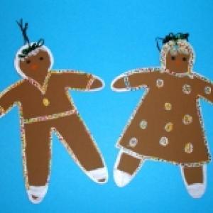 Fabriquer des bonshommes de Noël pour l'éveil des bébés