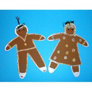 Fabriquer des bonshommes de Noel en papier