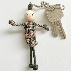 Porte-clefs bonhomme en paracorde