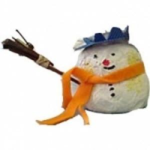 Fabriquer un bonhomme de Neige en pâte à sel