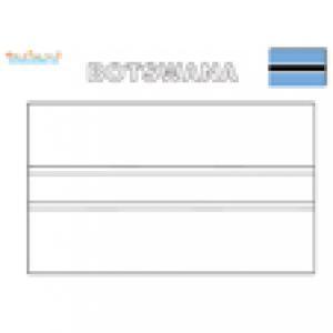 Drapeau Botswana à colorier