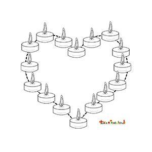 Bougies en coeur hommage aux victimes