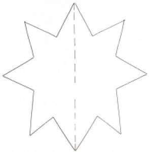 modèle d'étoile pour fabriquer une boule en papier