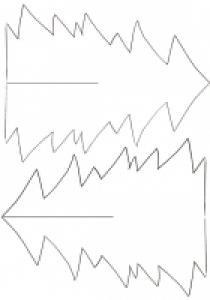 Imprimer le modèle de sapin en papier à décorer