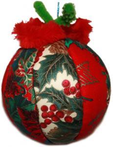 Boule de Noël tissu