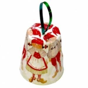 Boule cloche de Noël, verre plastique et serviette en papier