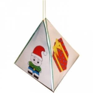 Boule de Noël pyramide paper toy