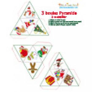 Boule de Noël pyramide 2 à imprimer