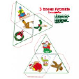 Boules pyramide à imprimer pour Noël