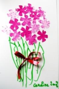 Peindre un bouquet de fleurs à la pomme de terre