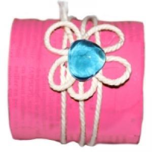bracelet en bouteille et corde