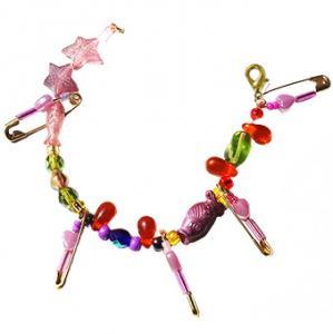 Bracelet en épingles et perles fantaisies