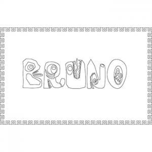 coloriage Bruno lettre zoo