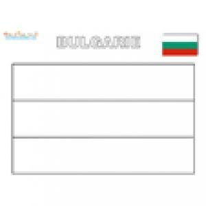 Coloriage du drapeau de la Bulgarie