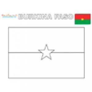Coloriage drapeau burkina faso
