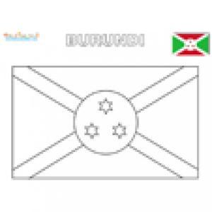 Coloriage du drapeau du Burundi