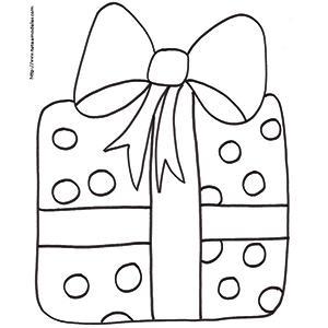 Coloriage cadeau à pastilles