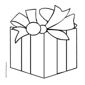 Coloriage de cadeaux de Noël