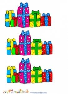 Image de Noel : groupe de cadeaux de Noel