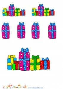 planche de cadeaux de Noel gratuite