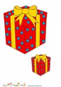 Image de Noel : image gros et petit cadeau rouge