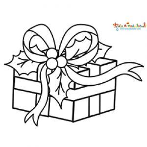 Cadeau de Noel aux feuilles de houx