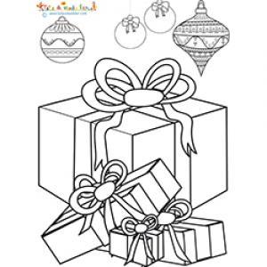 Des cadeaux de Noël à colorier