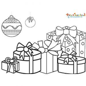 Cadeaux de Noel sous les boules