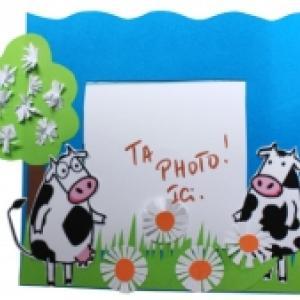 Cadre photo les 2 Vaches