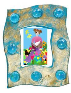 Fabriquer un cadre de princesse en pâte à modeler qui sèche à  l'air