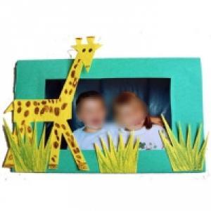 Cadre photo girafe